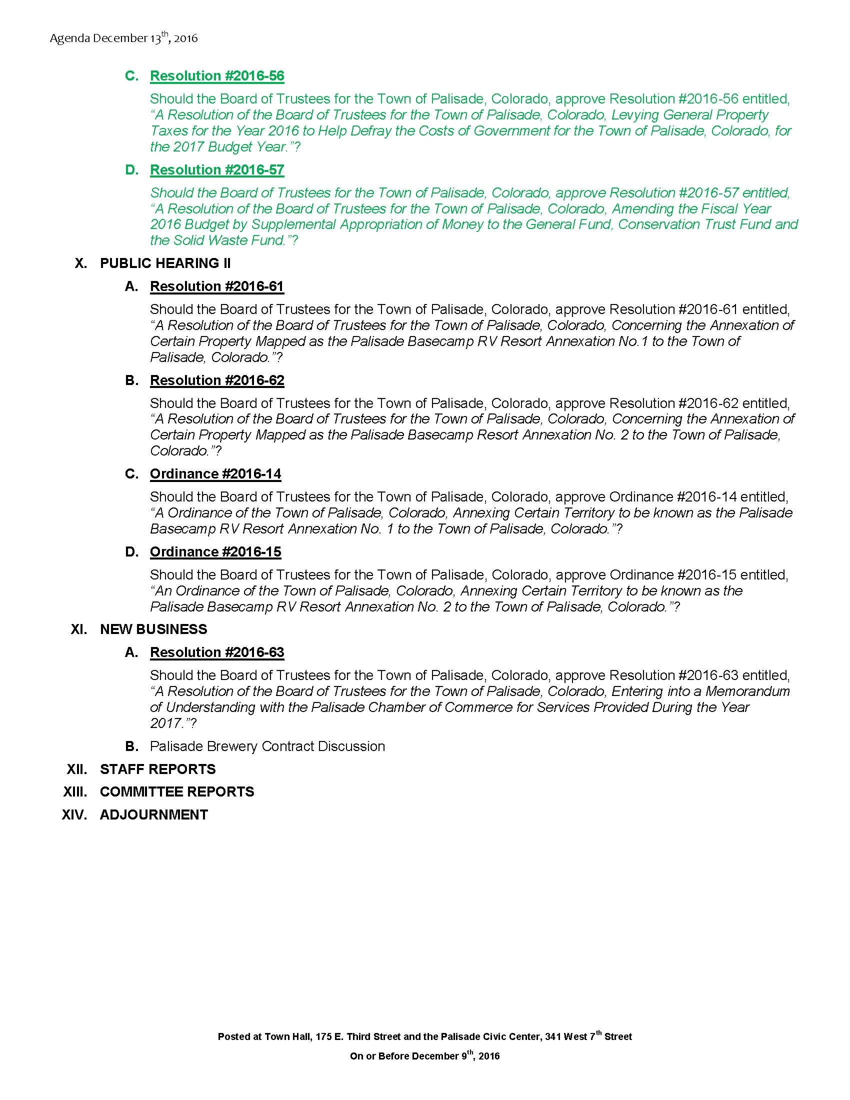 December 13th 2016 Board Meeting Agenda Page 2