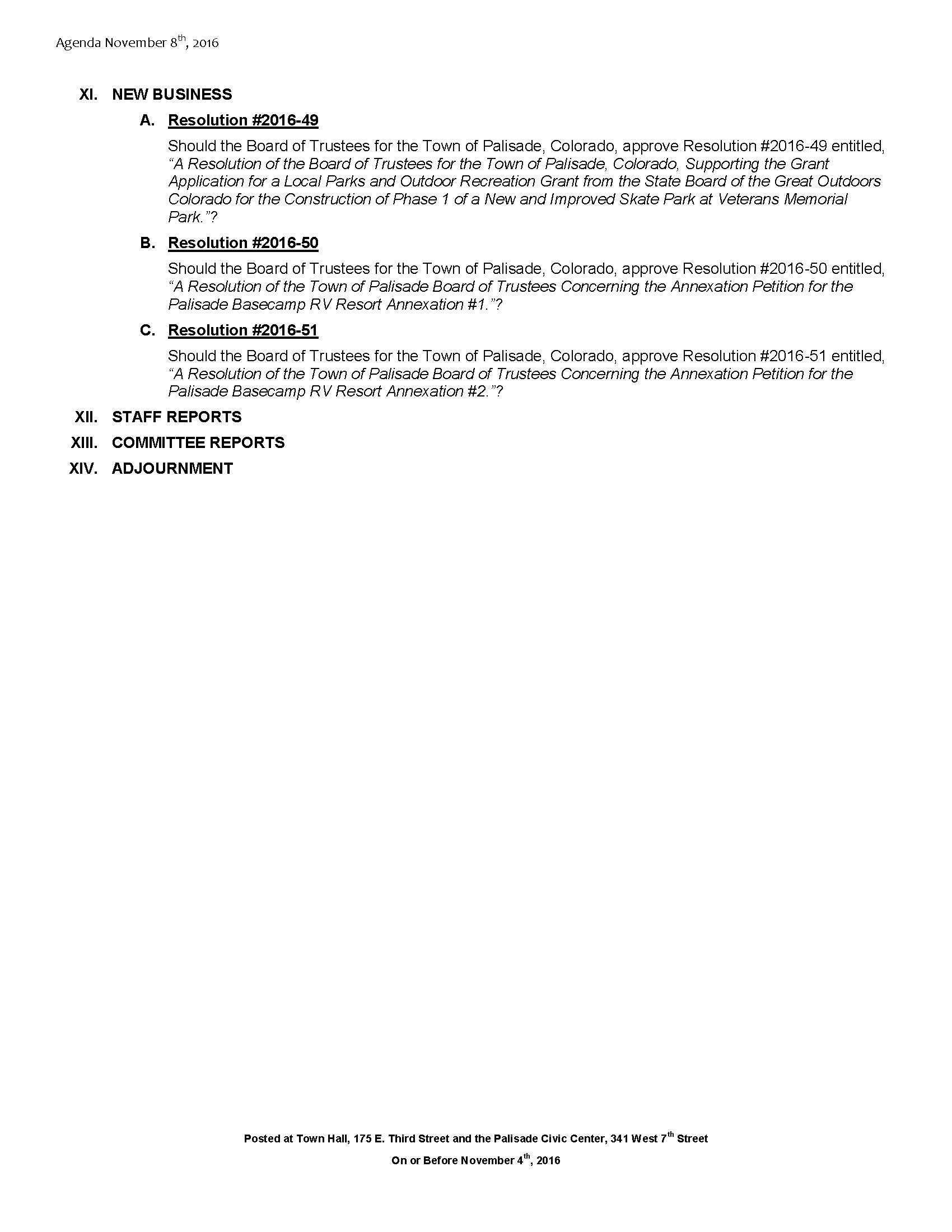 November 8th 2016 Board Meeting Agenda Page 2