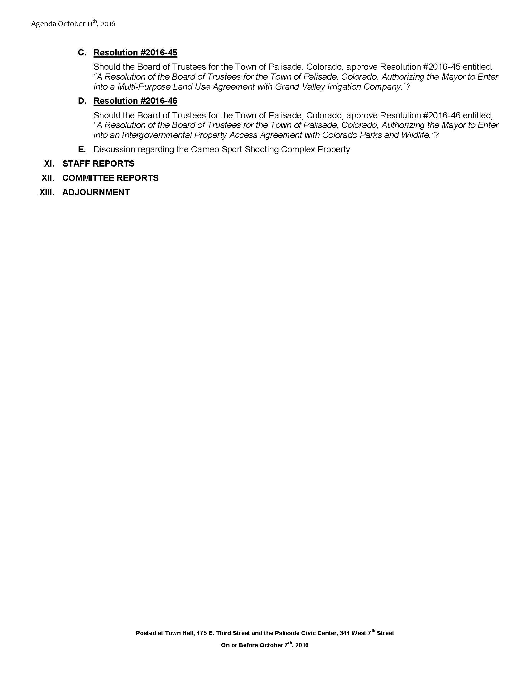 October 11th 2016 Board Meeting Agenda Page 2
