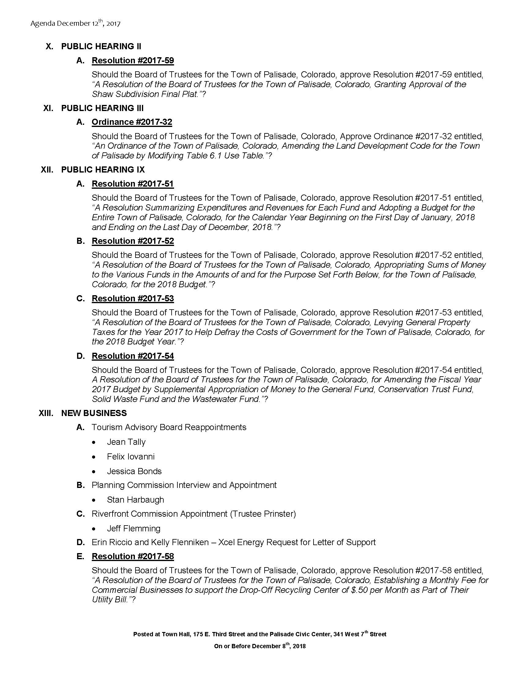 December 12th 2017 Board Meeting Agenda Page 2