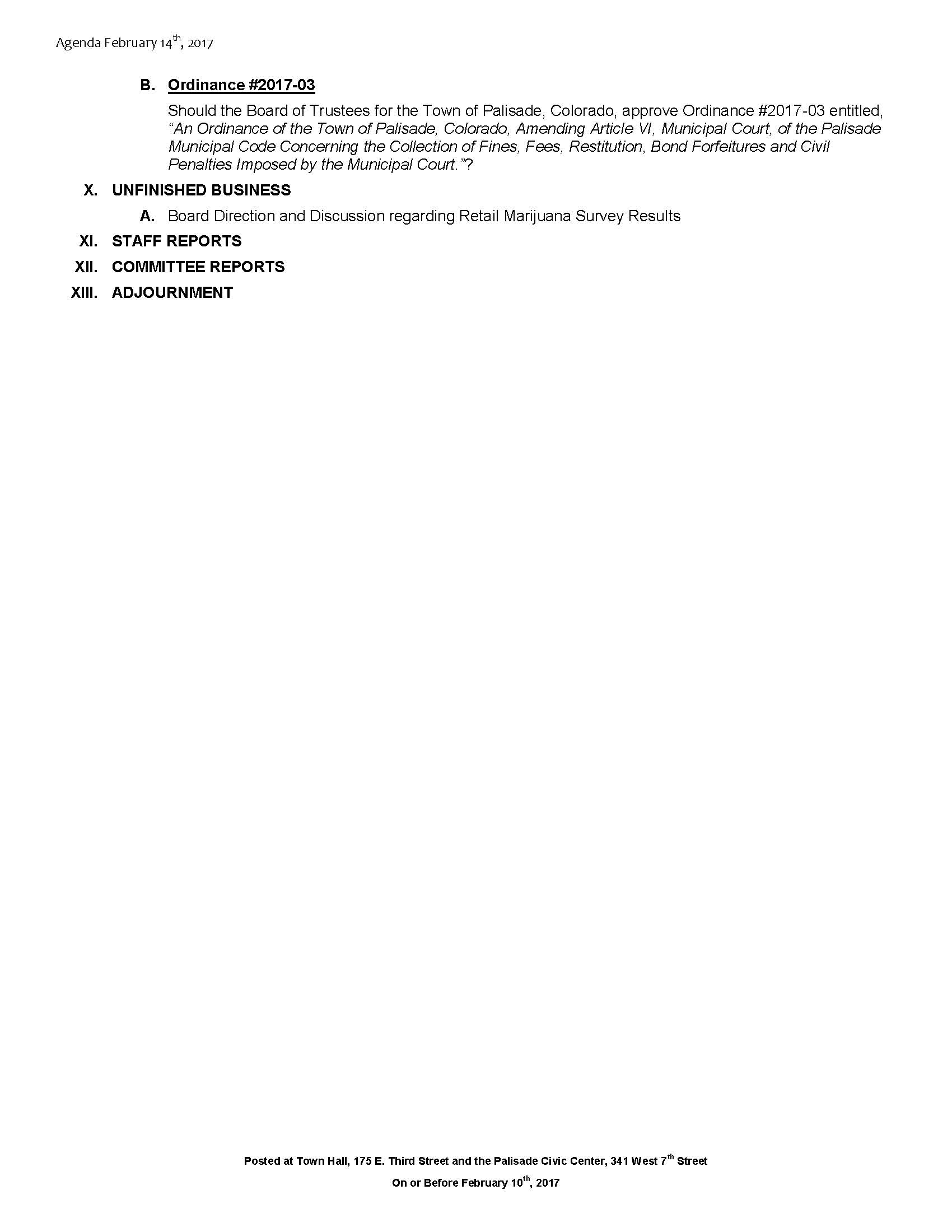 February 14th 2017 Board Meeting Agenda Page 2