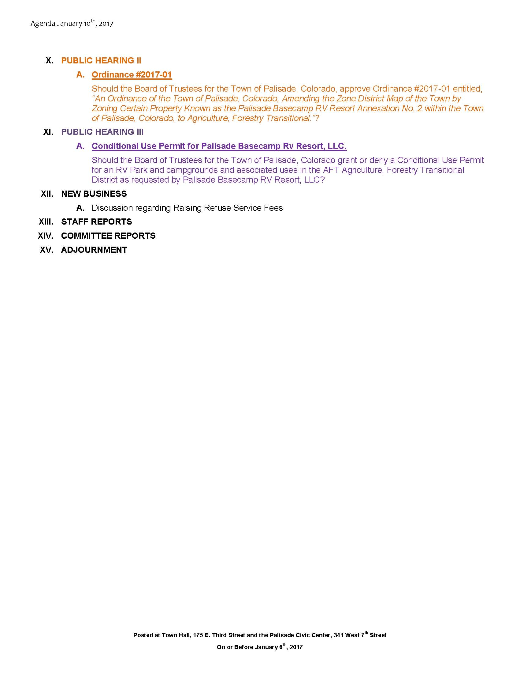 January 10th 2017 Board Meeting Agenda Page 2