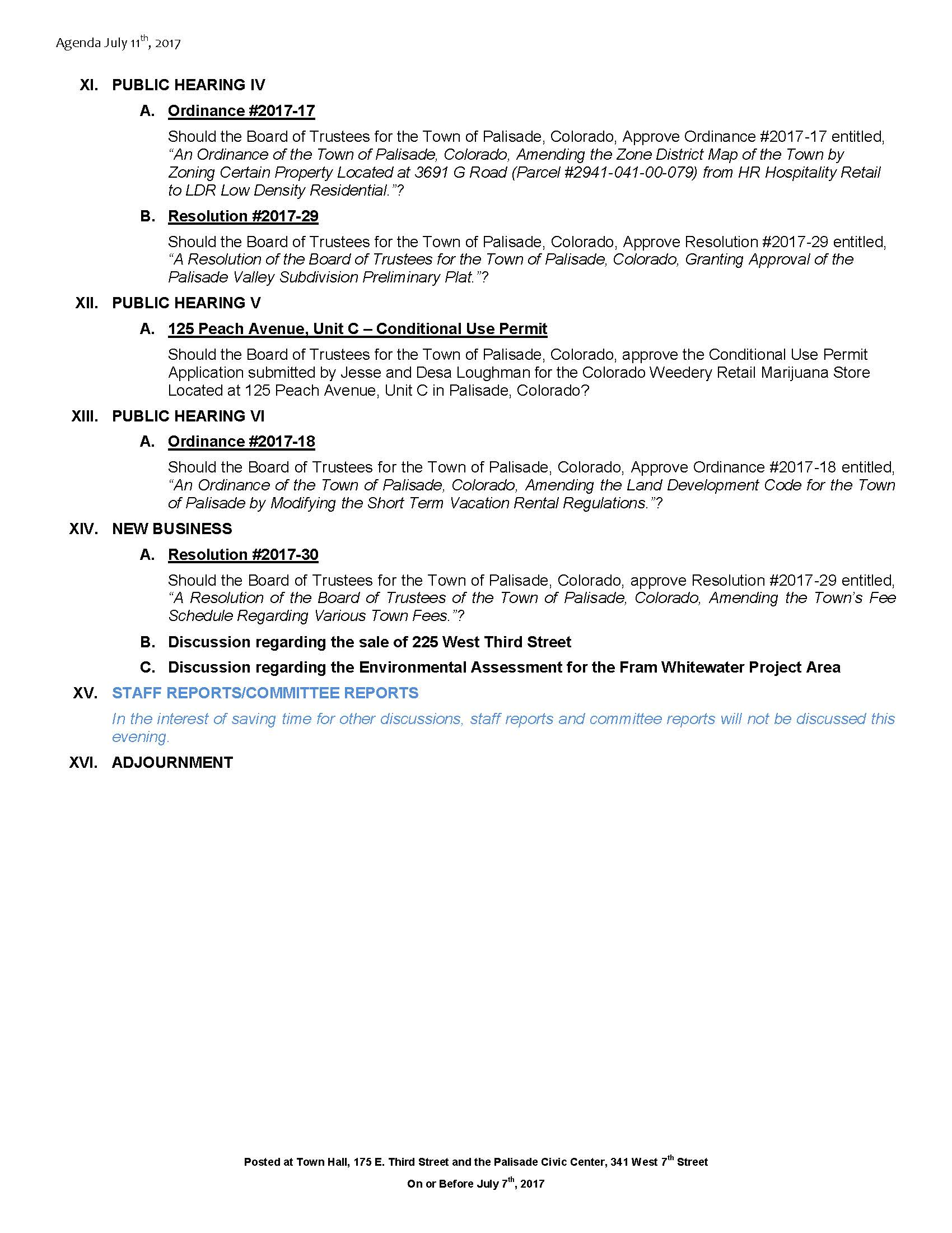 July 11th 2017 Board Meeting Agenda Page 2