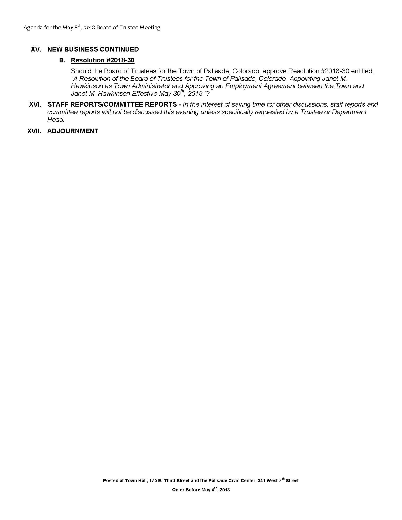 May 8th 2018 Board Meeting Agenda Page 3