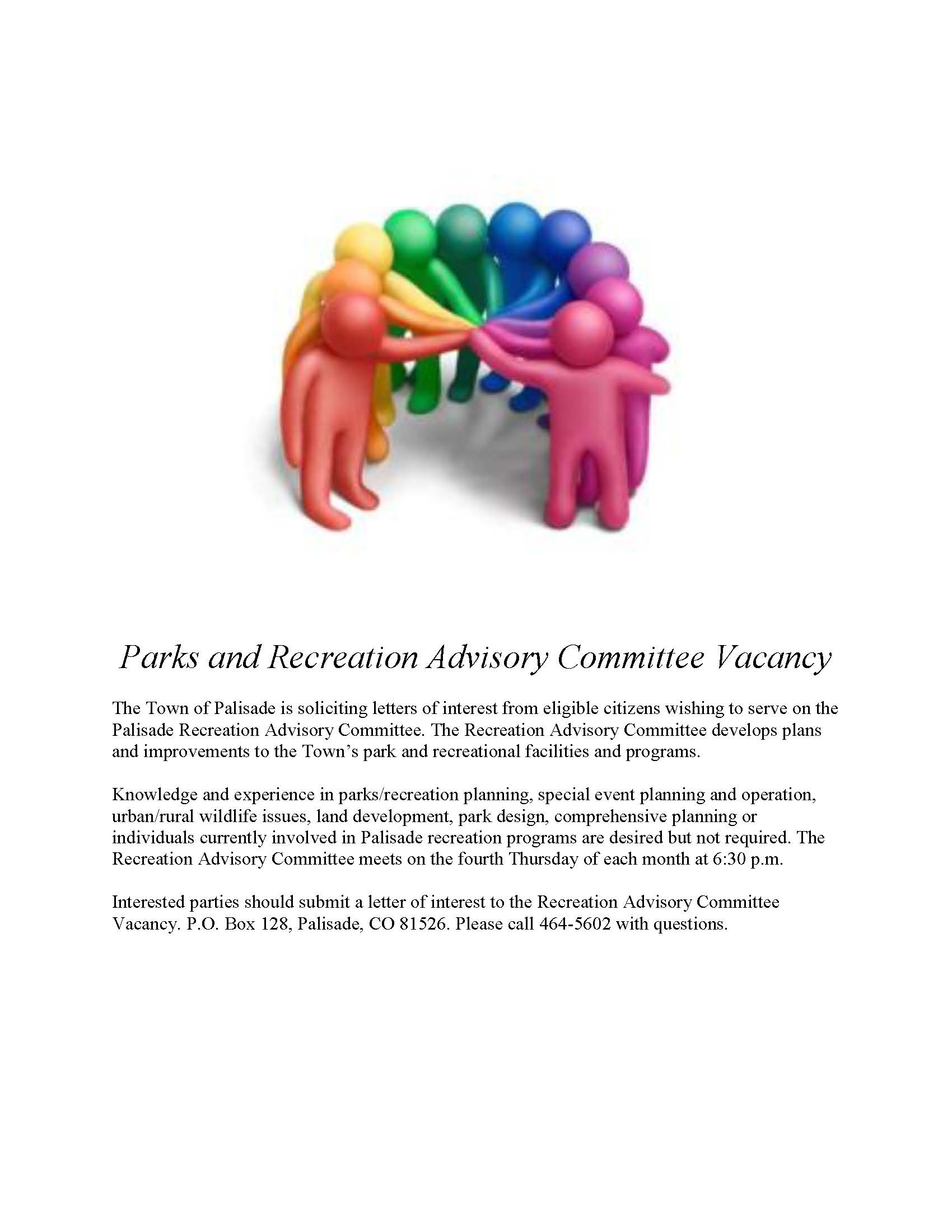 Parks and Recreation Advisory Committee Vacancy
