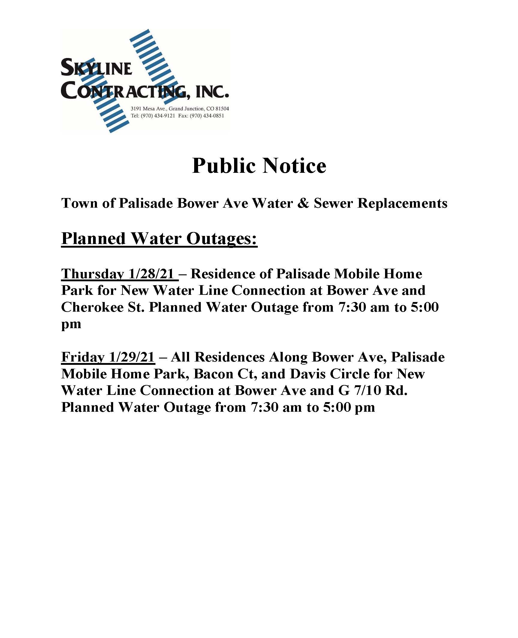Water Line Shut Off Flyer