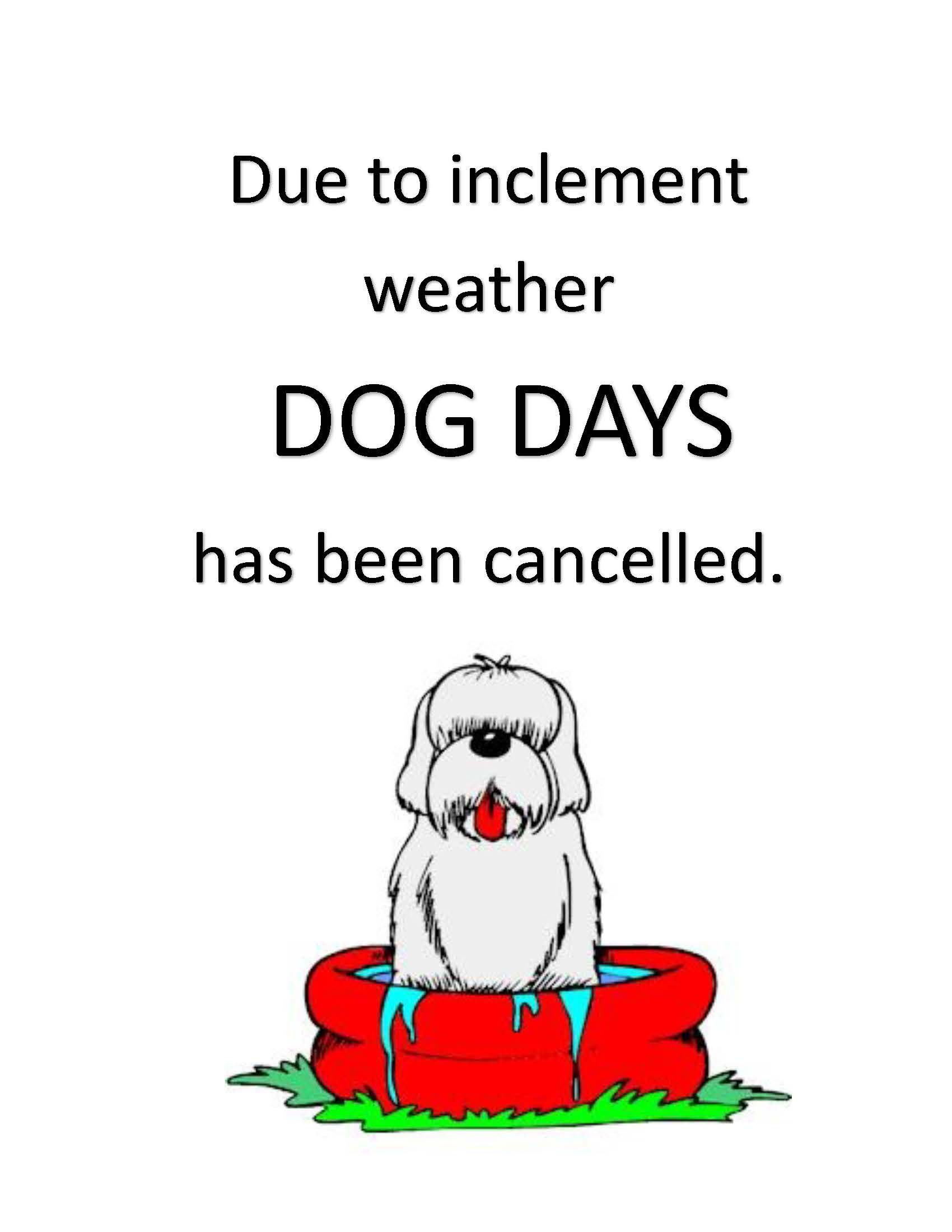 dog days cancelled